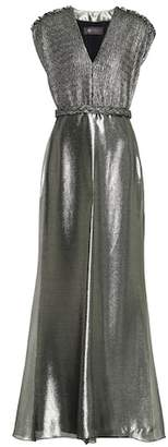 Max Mara Bacio metallic dress