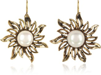 Alcozer & J Sun Earrings w/Pearls