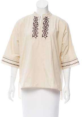 Max Mara Embroidered Short Sleeve Top w/ Tags