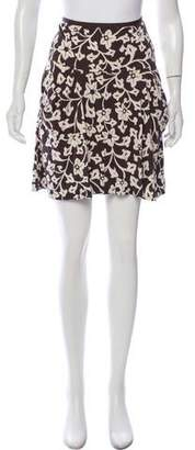 Diane von Furstenberg Floral Print Flare Mini Skirt