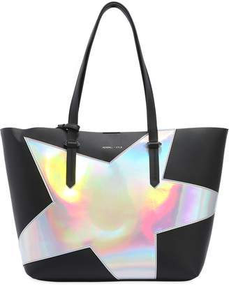 KENDALL + KYLIE Izzy Star Textured Faux Leather Tote Bag