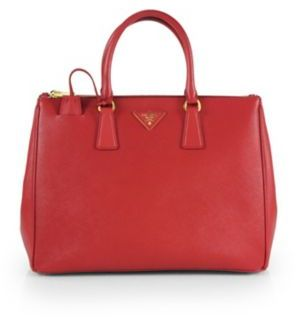 Prada Saffiano Lux Large Double-Zip Tote $2,580 thestylecure.com