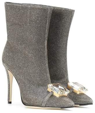 Marco De Vincenzo Metallic ankle boots