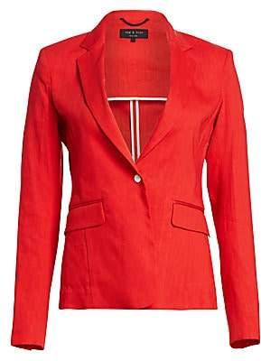 Rag & Bone Women's Lucy Linen-Blend Blazer - Size 0