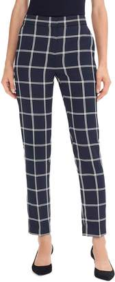J.Crew French Girl Windowpane Slim Crop Pants