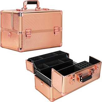 Ver Beauty 3 Easy Slide Extendable Trays Professional Cosmetic Makeup Train Case Organizer Travel Dividers - Vk003