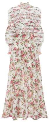 Zimmermann Radiate linen and silk gown
