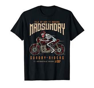 Tiffany Saidnia Isle Of Man Racing T-Shirt Vintage Biker Mad Sunday