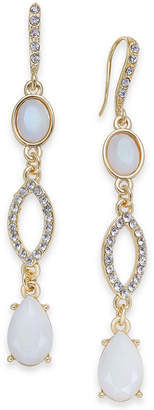 INC International Concepts I.n.c. Gold-Tone Stone & Pave Linear Drop Earrings, Created for Macy's