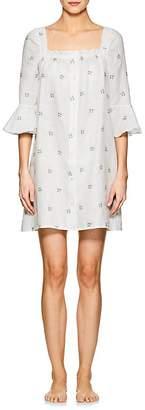 SLEEPER Women's Jane Floral Linen Minidress