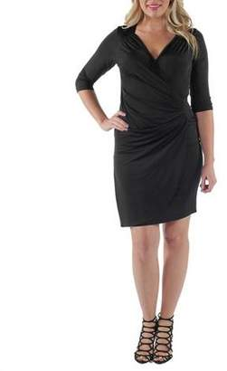 24/7 Comfort Apparel Women's Side-Gathered Dress