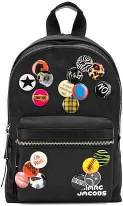Marc Jacobs badge detail backpack