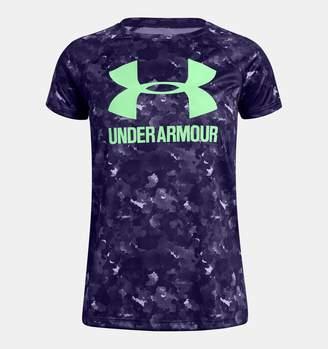 Under Armour Girls' UA Big Logo Novelty T-Shirt
