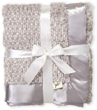 Baby Essentials Piccolo Bambino (Newborn/Infants) Grey Faux-Fur Stroller Blanket