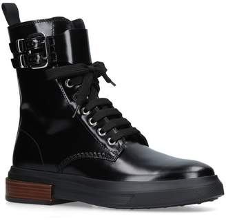 Tod's Lace Up High Ankle Boots
