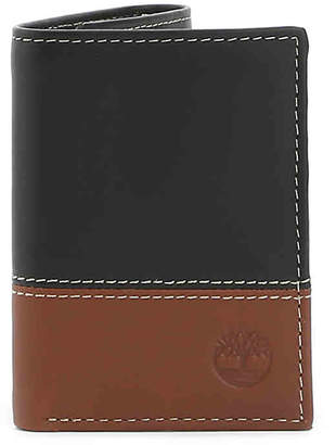 Timberland Two Toned Tri-fold Leather Wallet - Men's