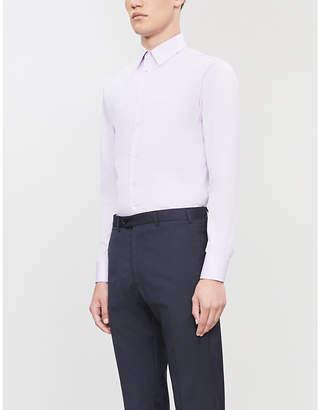 Emporio Armani Modern-fit cotton-twill shirt