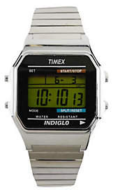 Timex Men's Digital Watch with Silvertone Expan