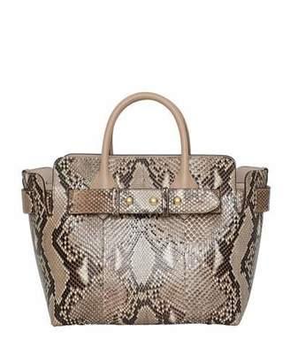 211ae1679ff5 Burberry Marais Small Python Belted Satchel Bag