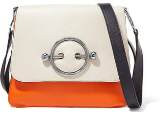 J.W.Anderson Disc Color-block Leather Shoulder Bag