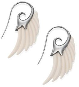 Noor Fares Fly Me To The Moon Ivory Wing Earrings