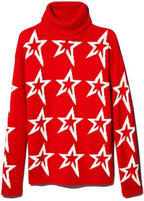Perfect Moment Merino Wool Turtleneck Star Sweater