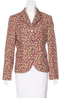 Philosophy di Alberta Ferretti Floral Print Wool Blazer