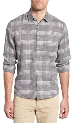 Billy Reid John Standard Fit Plaid Linen Sport Shirt