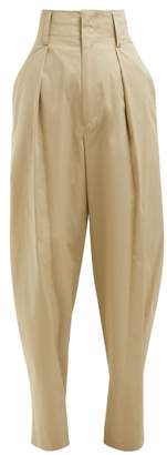 Etoile Isabel Marant Odrys Voluminous Cotton Trousers - Womens - Beige