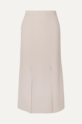 Max Mara Wool-blend Crepe Skirt - Beige