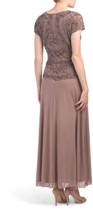 Pisarro Nights Beaded Top Gown