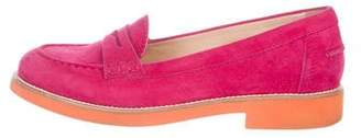 Tod's Suede Round-Toe Loafers