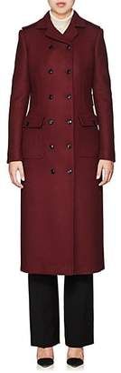 Barneys New York Women's Wool-Blend Double-Breasted Coat - Md. Red