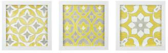 Bungalow Rose Tuscan Tiles 3 Piece Framed Graphic Art Print Set on Wood