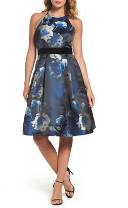 Women's Eliza J Jacquard Fit & Flare Dress $248 thestylecure.com