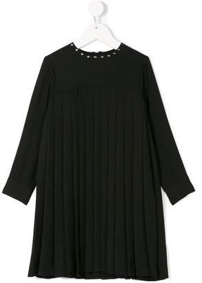 John Richmond Junior long-sleeved pleated dress