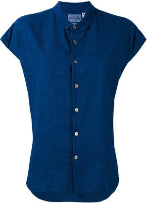 Blue Blue Japan リネンブレンド 半袖シャツ