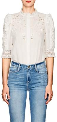 Ulla Johnson Women's Kinsey Floral Cotton Blouse