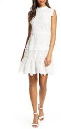 Julia Jordan Lace & Embroidery Sheath Dress