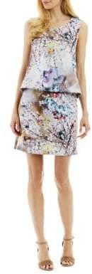 Nicole Miller New York Floral Tie Back Popover Dress