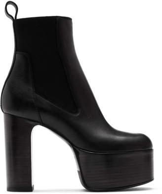 Rick Owens Black Elastic Kiss Boots