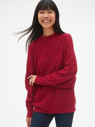 Gap Slouchy Textured Mockneck Pullover Sweater