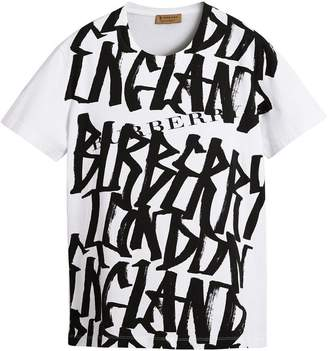 Burberry Graffiti Print T-shirt