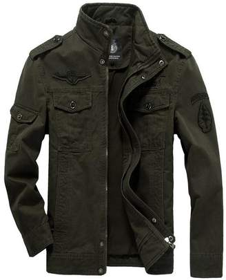 JEWOSOR Men's Military Style Air Force Jacket Military Coat Tops Bomber Jackets (US XXX-Large/Tag Asia 6XL, )