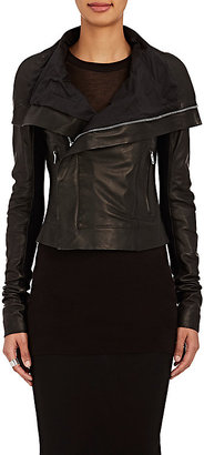 Rick Owens Women's Classic Biker Leather Jacket $2,615 thestylecure.com
