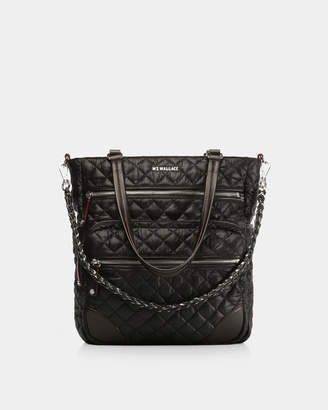 MZ Wallace Black with Silver Hardware Crosby Tote
