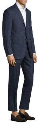 Corneliani Regular-Fit Scratch Plaid Wool Suit