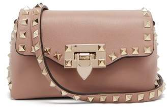 Valentino - Rockstud Mini Leather Cross Body Bag - Womens - Nude