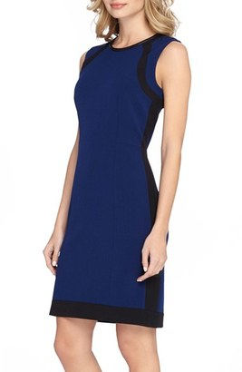Women's Tahari Colorblock Crepe Sheath Dress $128 thestylecure.com