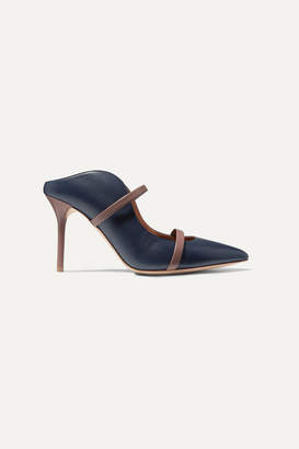 Malone Souliers Maureen 85 Leather Mules - Navy